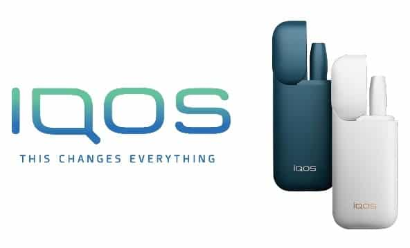 IQOS white and navy devices