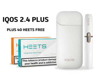 IQOS 2.4 PLUS WHITE AND 40 HEETS