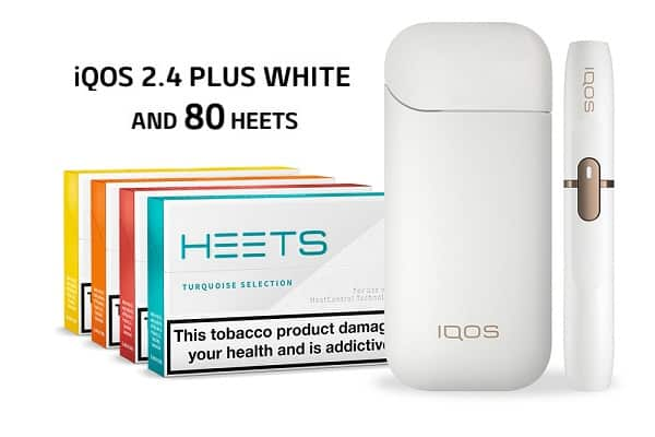 IQOS 2.4 PLUS WHITE AND 80 HEETS