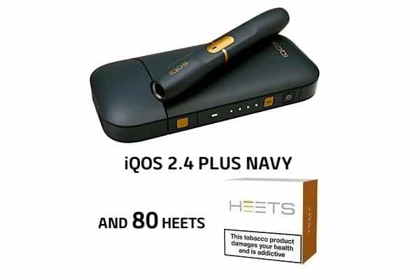 NAVY IQOS PLUS AND 80 HEETS PROMO
