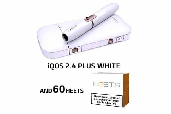 WHITE iQOS 2 4 Plus and 60 HEETS (SPECIAL PROMO!)