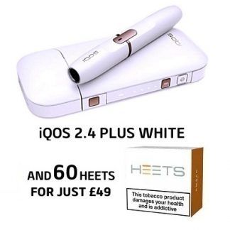 White iQOS 2.4 Plus Kit 60 HEETS