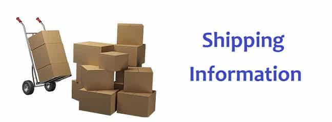 Shipping information banner