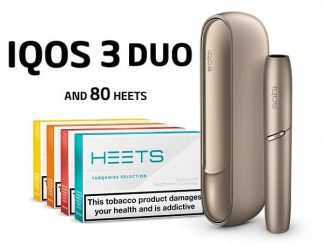 IQOS 3 DUO AND 80 HEETS BRILLIANT GOLD