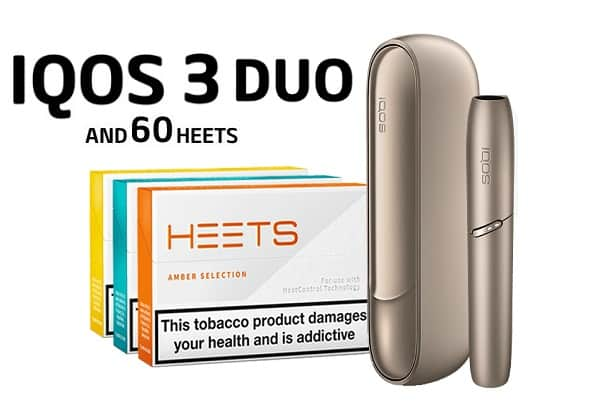 IQOS 3 DUO BRILLIANT GOLD AND 60 HEETS