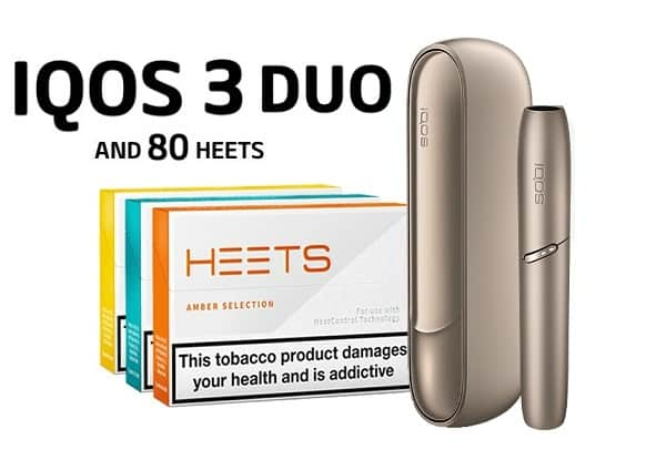 IQOS 3 DUO BRILLIANT GOLD AND 80 HEETS