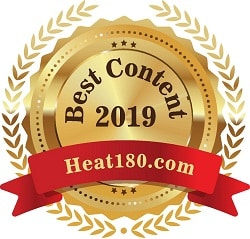 Heat 180.com best content award 2019