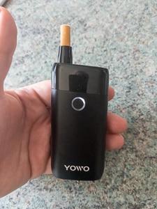UWOO YOWO device with regular cigarette inserted